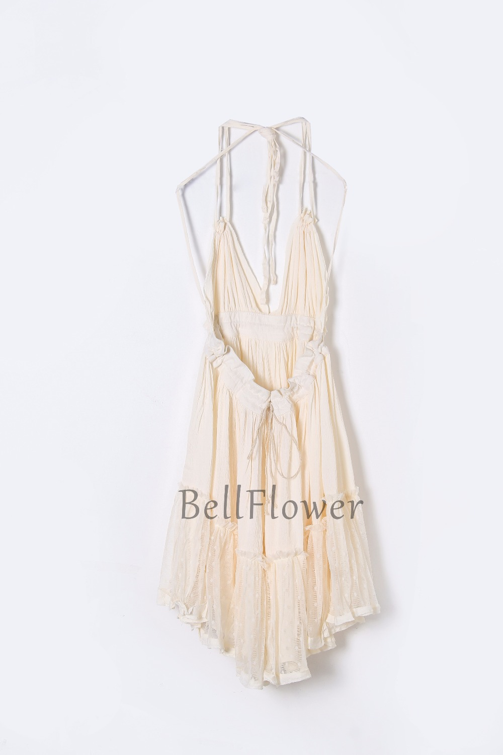 BellFlower 17 Summer Bohemian Women Mini Dress Backless Beach Dress Holiday Boho Strapless Sexy Ball Gown Hippie Chic Dress 10