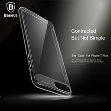 Baseus Sky Case For iPhone 7 For iPhone 7 Plus Cover Case Ultra Thin Crystal Clear Transparent Hard PC Phone Protective Shell