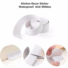 Mildew Waterproof Tape Corner Seams Bathroom Toilet Sealing Strip Stove Seal Protectors Sink Slit Wallpaper Kitchen Gadgets !