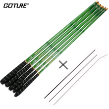 Goture Green Telescopic Fishing Rod Carbon Fiber Fishing Pole Ultra-light Carp Rod 3.6M 4.5M 5.4M 6.3M 7.2M+3 spare top tips