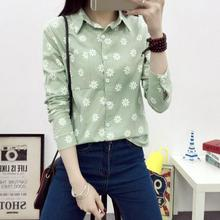 2017 The New White Version Long Sleeved Shirt Blouse Backing Female Korean Fan Students Free Shipping