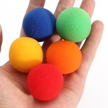 5pcs/set 5 color Close Up Magic Street Classical Comedy Trick Soft Sponge Balls 3.5cm Medium size