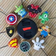 20pcs Camera Cartoon Creatively Lens Rope Lens Cap Keeper lens cap line For Canon nikon sony Pentax Cap Holder Safety Wholesale