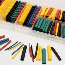 328Pcs 8 Sizes Polyolefin Assorted 2:1 Heat Shrink Tubing Tube Sleeve Wire Kit With Box 5 Colors Heat Shrink Tube