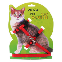 High Quality Free Shipping New Design Brand Cat Puppy Leash Harness Collar For Cats Small Dog Adjustable 4colors gato