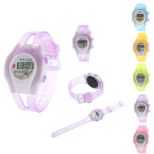 latest fashion children's watch outdoor Required Colorful Boy Girl Student Sport Time Clock Electronic Digital LCD Wrist Watch(China)