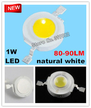 500pcs/lot WholeSale, 80-90LM 1W Led beads natural sun white, 4000-4500K led high power beads, 80-90 lumen, (No: DY8-1W-NW )(China)