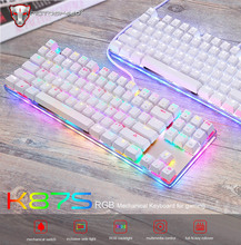 New Motospeed K87S Mechanical Gaming Keyboard with RGB Backlight Keyboards Gamer Blue Switch for PC Laptop Computer PK CK104