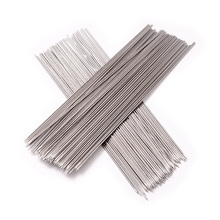100pcs Stainless Steel Barbecue Grilling BBQ Needles Sticks Skewers (Silver)