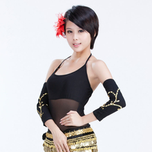 Brand New Hot Sale Women Belly Dance Dress Decoration Multicolor Oversleeve with Paillette Clothing Accessories WN16102415