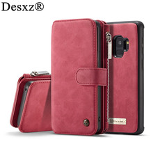 Buy Desxz Back Case Samsung Galaxy S9 S9 Plus Luxury Retro Card Slot Magnetic Multifunction Wallet Phone Case Cover ForSamsungS9 for $12.88 in AliExpress store