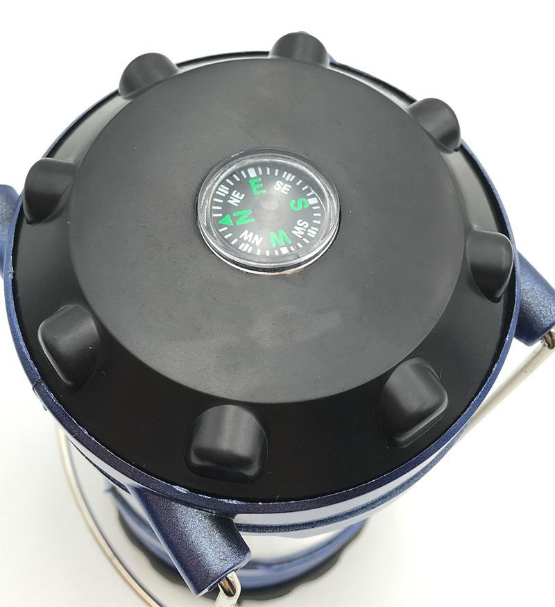 Portable Lantern 12 LEDs Brightness adjustable Camping Light Hand Lamp compass Outdoor Camping Lantern Waterproof Tent Light