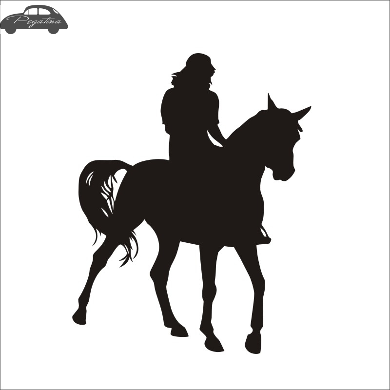 Horse Riding Decal Car Poster Vinyl Wall Decals Pegatina Quadro Parede Decor Mural Wild Animal Sticker 719