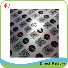 Customized        Self-adhesive 3d crystal domed paper sticker scratch off label