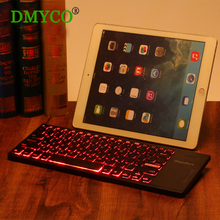Brand DMY Ultra-thin Backlight 3 color Mini USB Wireless Keyboard Air mouse touchpad keyboard for PC,tablet ,laptop,smart TV