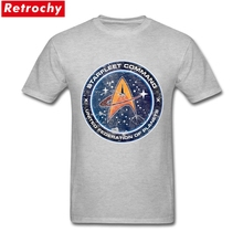 Short Sleeve Father's Day Custom Vintage Old Tee Men's Star Trek Enterprise T shirt Fitness Men Plus Size Design Logo Tshirt(China)