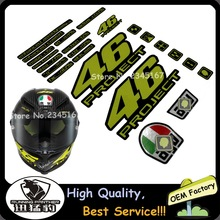 1 Set Motorcycle Tail Box Helmet Car Motorcycle Sticker Decal Vinyl Reflective for Rossi VR 46 Project
