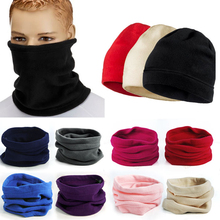 Hot 2017 New 3 in 1 Unisex Women Men Polar Fleece Snood Hat Neck Warmer Esqui Wear Scarf Beanie Balaclava Cap(China)
