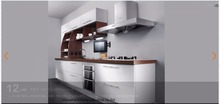 melamine/mfc kitchen cabinets(LH-ME014)(China)