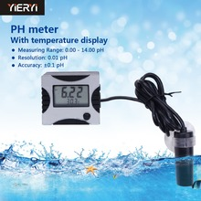 yieryi 100% New Pen Type Tester Auto Calibration Analyser Aquarium control ph Meter Pool Water With Temperature Detector