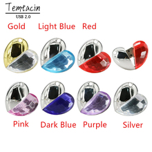 Crystal Heart Flash Memory Stick PenDrive Pen Drive 4GB 8GB 16GB 32GB USB Flash Drive USB Drive U Disk Flash Disk