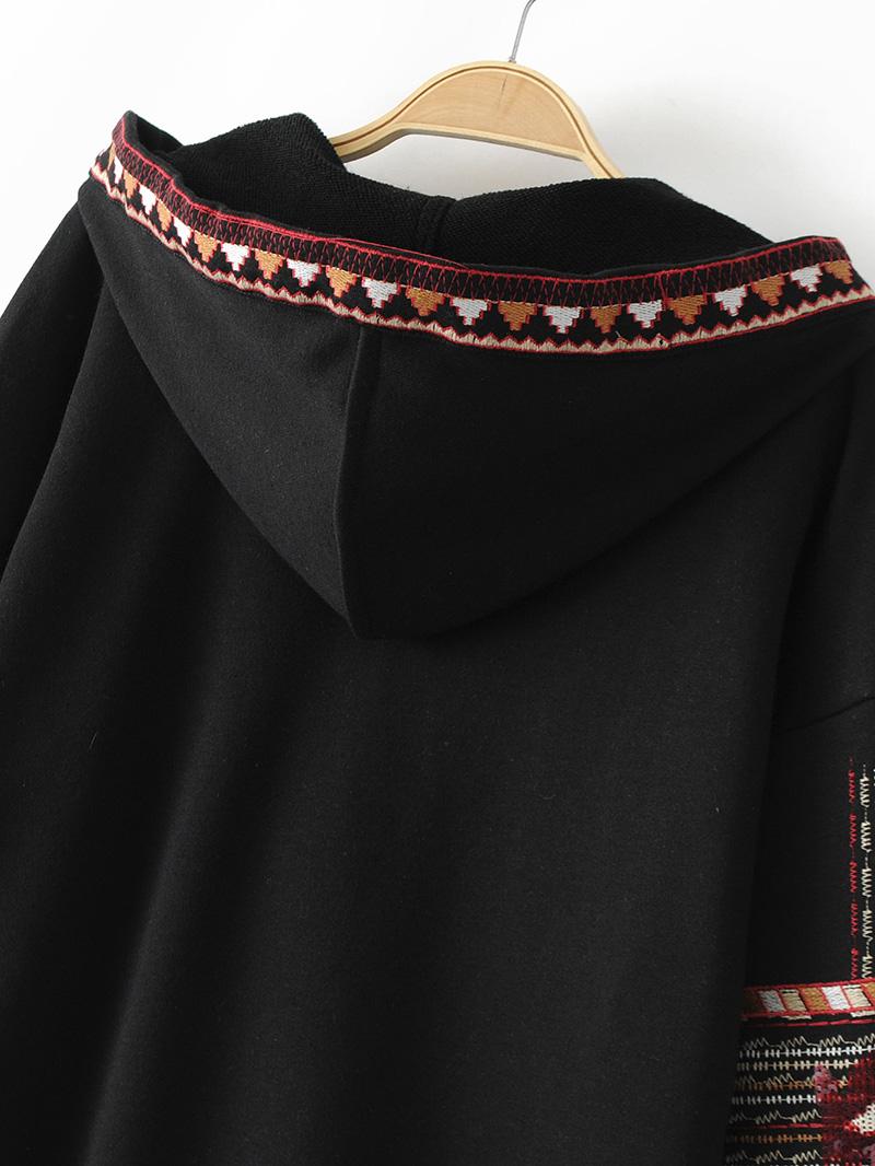 ShejoinSheenjoy Hooded Long Sleeve Loose Hoodies Women Fashion Black Vintage Floral Geometric Embroidery Sweatshirt Pullovers (23)