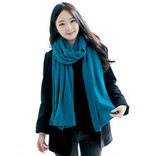 Solid Winter Scarf Women Warm Long Knitted Cashmere Infinity Scarves Wool scarfs Pashmina Fall Shawl Cape Black Coffee