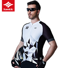 Santic Cycling Jersey Mens 2017 Short Pro Racing Downhill MTB Maillot Jerseys Bicycle Bike Clothing - The Broken Wind Store store