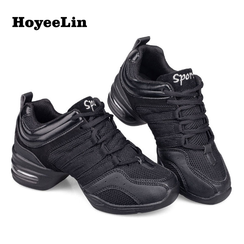 HoYeeLin Mesh Jazz Shoes Woman Ladies Modern Soft Outsole Dance Sneakers Breathable Lightweight Dancing Fitness Shoes(China)
