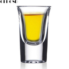 GFHGSD Home Practical Thick Bottom Glass Red Wine Cup Creative Bullet Cups Bar Wine Glass(China)