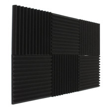 Newest 6x Acoustic Foam Wedge Tiles Studio Sound Proofing Room Treatment Absorption Waterproof 30*30*3cm Favorable(China)