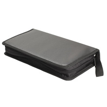 New Portable 80 Disc CD VCD DVD Storage Bag Wallet Holder Case  Imitation leather  Storage Box Black E5M1