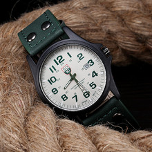1PC Casual Watch Quartz Watch Fashion Belt Military Campaign Calendar High Quality Green  Fast Shipping VICO