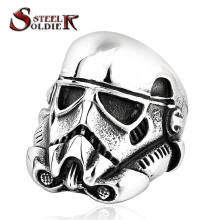 steel soldier new design stormtrooper men personality ring movie style star wars fashion stainless steel jewelry BR8-264