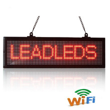 52x16CM Phone WiFi Remote Control And USB Programmable Advertising LED Display Sign Board