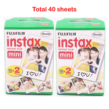 Fuji Fujifilm Instax Mini 8 Film Blanc 2 Packs 40 Sheets Film For 7s 8 90 25 55  Share SP-1 Instant Camera