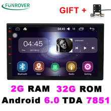 2017 Sale 2 Double Din Universal Car Radio Dvd Player Stereo 2g+32g 7 Inch Android 6.0 Autoradio Gps Navigation Quad-core Bt Fm(China)