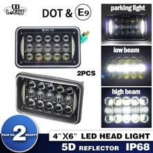 "COLIGHT 4''X6"" 5D 45W 15W Led Headlight Drl Sealed Beam for Kenworth Peterbilt Freightliner Chevrolet Truck H4 Head Light(China)"