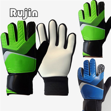 Kids Goalkeeper Gloves Finger Save Goalie Keeper rubber Non-slip beginner Professional training football glove for student