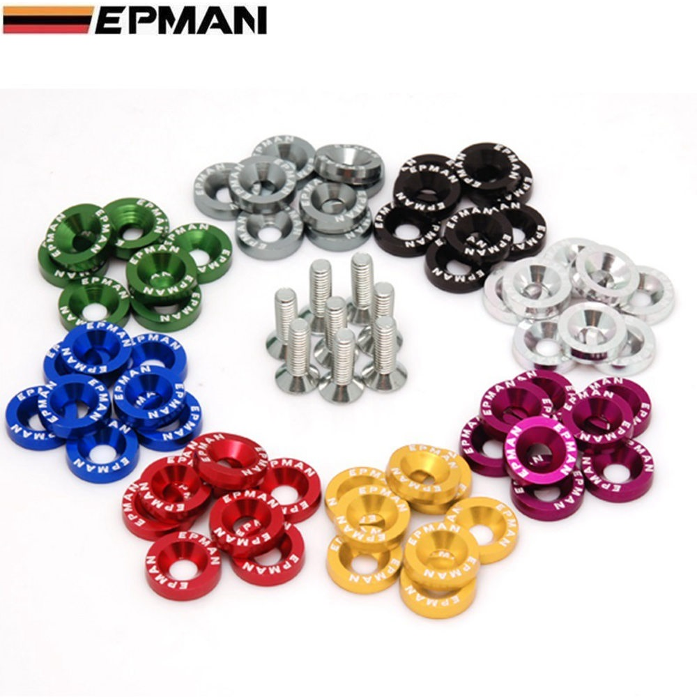 EPMAN Fender Washers Bumper Washer Lisence Plate Bolts Kits for Honda Civic EK EP AP DC2 DC5 for jdm HU-DP01S-EP