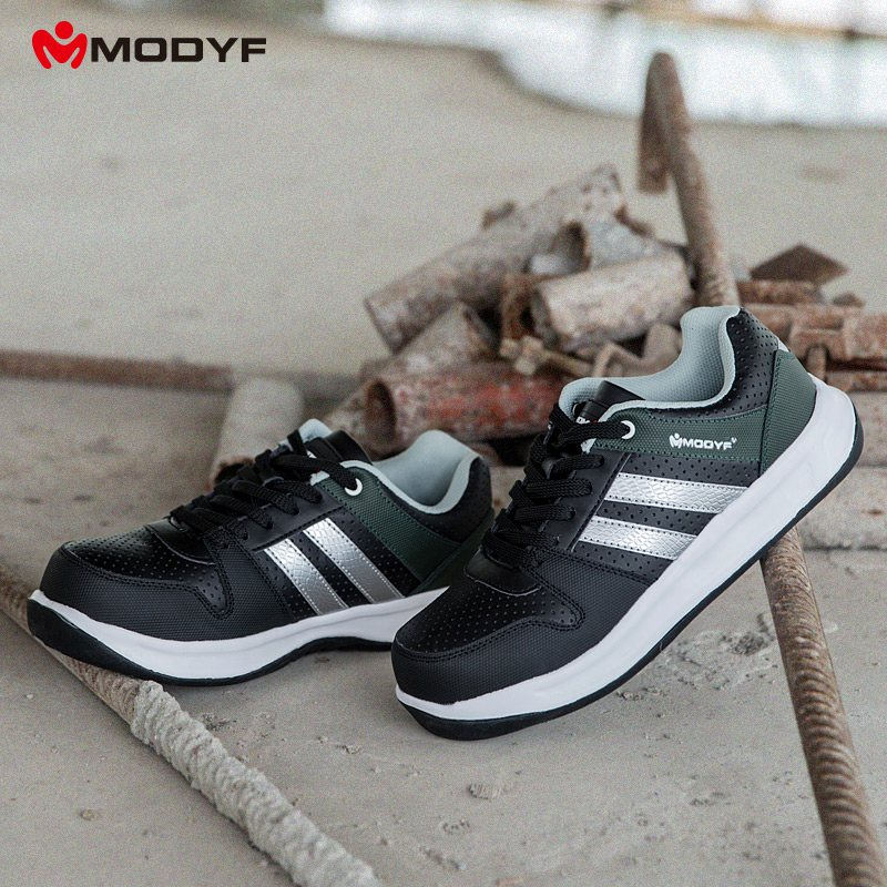 Modyf Men Safety Shoes Steel Toe Work Shoes Flats Casual Protective Footwear 9