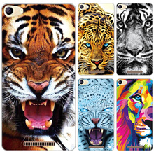 Soft Silicone Case For BQ BQS-5065 Choice Mobile Phone Protector Back Cover Tiger Pattern For BQ BQS 5065 Choice Case Fundas(China)