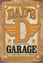 Vintage Home Decor Dad's Garage Vintage Metal Tin Signs Retro Metal Sign Decor The Wall of Cafe Bar Home Metal Beer Signs