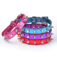 Pet Cat  Puppy Dog Collar Spiked Studded Strap Collars Buckle Neck  PU Leather Pet products