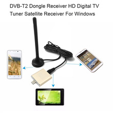 DVB-T2 TV Receiver HD Digital TV Tuner Satellite Receiver with Aerial Remote Control HD USB Dongle PC/Laptop For Windows