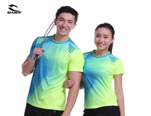 New Sportswear Quick Dry breathable badminton shirt ,Women / Men badminton table tennis shirt clothes short sleeve T Shirts