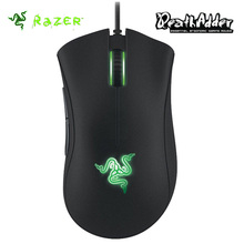 Razer Deathadder 2013 Gaming Mouse 6400DPI 4G Optical Sensor Scroll Wheel Hyperesponse Buttons Green LED Lighting Synapse 2.0