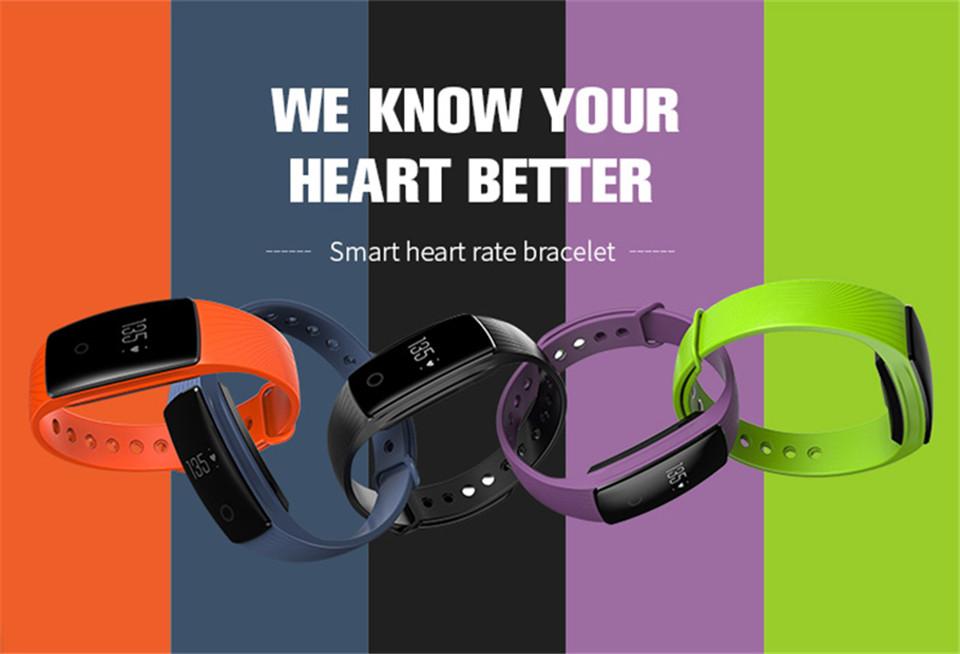 Teamyo New V05C Smart Band Pulse Heart Rate Monitor Smart Wristband Fitness Tracker Pedometer Sleep Tracker IOS Android Bracelet 1