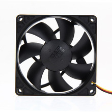 Brand New Mute 80mm Computer PC Case 3/4 Pin Cooling Fan with Screw Pad for PC CPU High Quality(China)