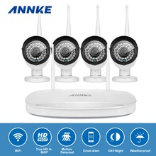 Buy ANNKE 4CH Wireless 960P NVR Kit 4PCS 1.3MP home Security WIFI IP Camera CCTV System Network Recorder Video Surveillance kit for $209.99 in AliExpress store